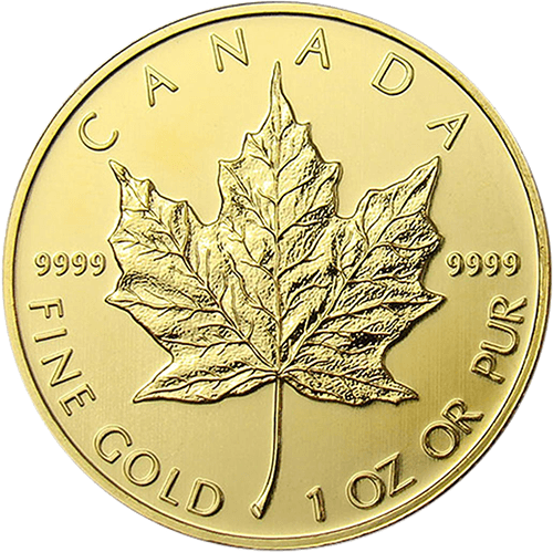maple leaf 1 unze gold robbe berking edelmetall. Black Bedroom Furniture Sets. Home Design Ideas