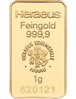 Goldbarren 1 Gramm