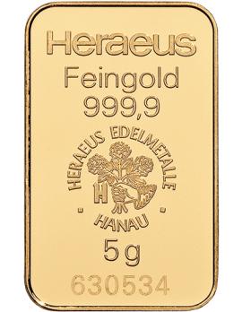 Goldbarren 5 Gramm
