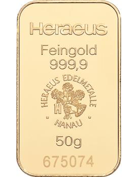 Goldbarren 50 Gramm