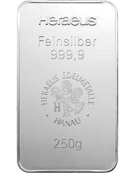 Silberbarren 250 Gramm