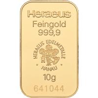 goldbarren 10 gramm gold robbe berking edelmetall. Black Bedroom Furniture Sets. Home Design Ideas