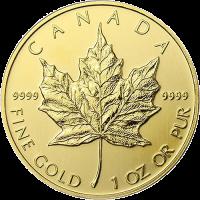 maple leaf 1 unze gold goldm nzen gold robbe. Black Bedroom Furniture Sets. Home Design Ideas