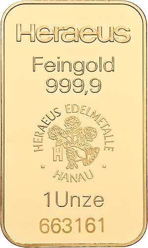 Goldbarren 31,1 Gramm