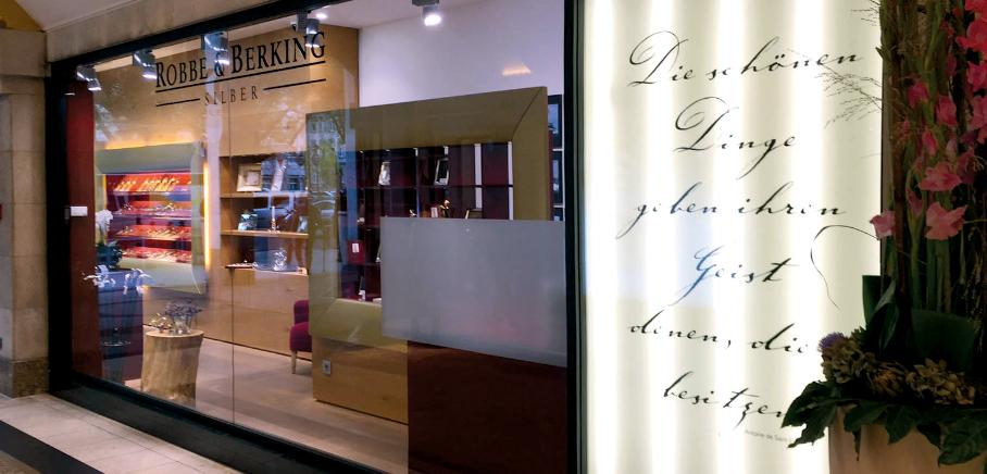 filliale d sseldorf robbe berking gold und silberhandel. Black Bedroom Furniture Sets. Home Design Ideas
